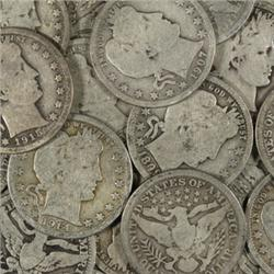 Lot of 15 Barber Quarters-