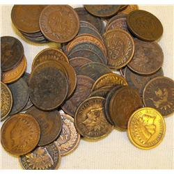 Lot of 40 Indian Head Pennies-culls-ag-
