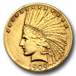 Random Date $ 10 Gold Indian Raw Coin