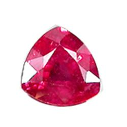 1.2ct Glowing Aaa Blood Red Ruby Trillaint (GMR-0906)