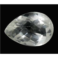 24.39ct Ultimate Flawless Quartz Crystal Gem Pear Checker Cut (GEM-21613)