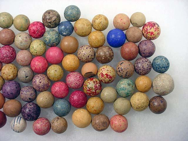 Lot Of Vintage Clay Marbles