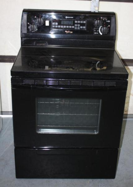 Glass Top Electric Stove ~ Whirlpool gold electric glass top stove