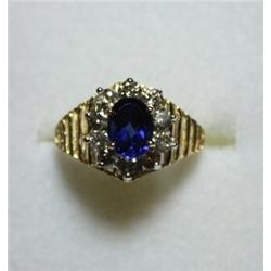 Sapphire & Diamond Ring - 2.2 Carat Total Weight