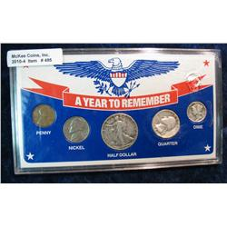 495. 1942  A Year to Remember  Five-piece Set U.S. Coins.