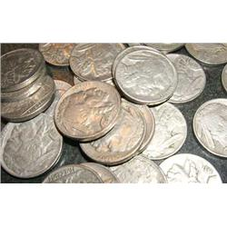 Lot of (10) Different Date Buffalo Nickels-FD