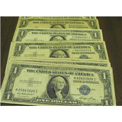 Lot of 10 Silver Certificates- 35-57 mix