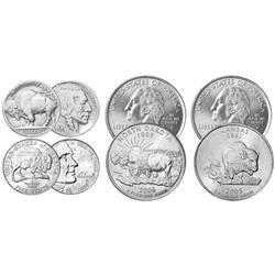 For Circulation Buffalo Theme Coins