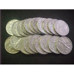 Lot of 5 XF Grade Walking Liberty Halves-