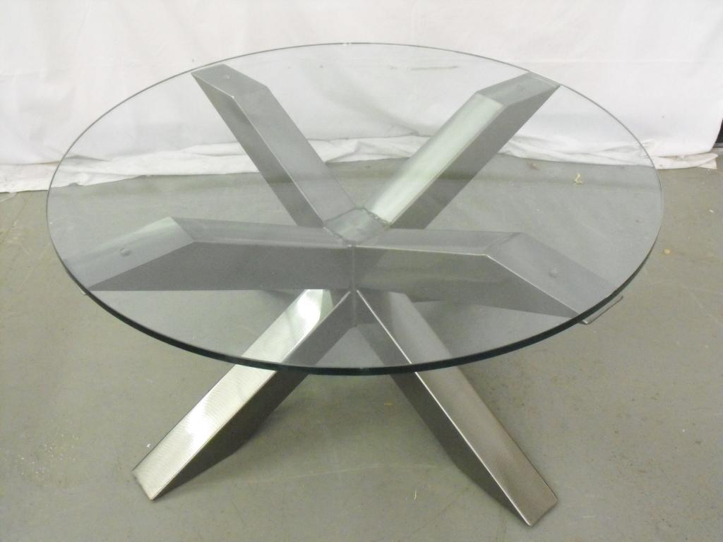 Round Glass Top Coffee Table. Loading Zoom