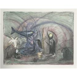Leonora Carrington, Crow Soup, Lithograph