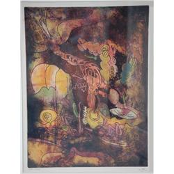Roberto Matta, Hurle Flamme, Aquatint Etching