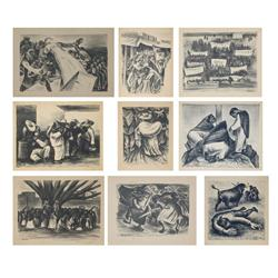 Marshall Goodman, Lot of 9 Mexico Lithographs