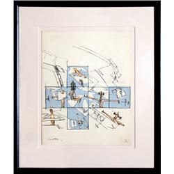 Roberto Matta, I want to see it to believe it, Lithograph