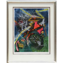 Roberto Matta, Pyrocentre, Aquatint Etching