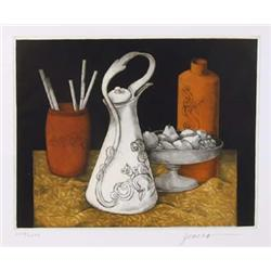 Miguel Herrera, Still Life 7, Etching and Aquatint
