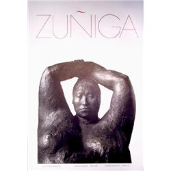 Francisco Zuniga, Sindin Gallery, NY, Exhibition Poster