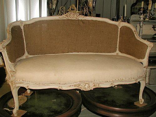 Carved Settee Sofa Louis XV Hand Made 19th Century Fran. Loading Zoom