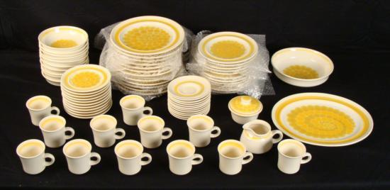 Image 1  1970 Franciscan Earthenware Sundance 70 pc. : franciscan dinnerware - pezcame.com