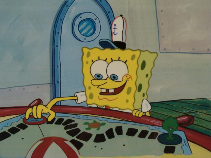 Background Cel Production SpongeBob Pirate Map Original