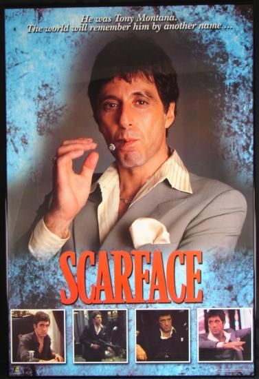 scarface al pacino tony montana framed movie poster