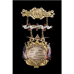 Civil War Gold Suspension Medal