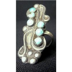 6 Turquoise Stone Sterling Ring