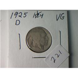 1925-D VG BUFFALO NICKEL KEY DATE