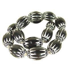 Black Chevron Tradebeads