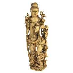 Antique Chinese Ivory Figure