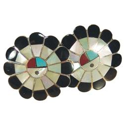 Zuni Inlay Cuff Links