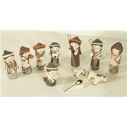 Acoma Pottery Nativity Set - Mary Lowden
