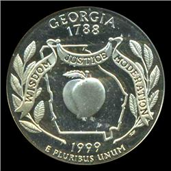 1999S Georgia 25c Proof Quarter Coin Graded ICG PR70 DCAM (COI-5418)
