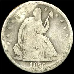 1875S Seated Half Circulated (COI-5833)