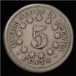 1866-1883 Date Range Single FINE Shield Nickel