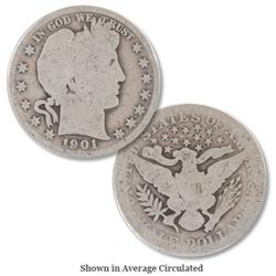 Group Of (3) Barber Half Dollars-
