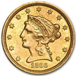Random Date $ 2.5 Liberty Head Gold Coin