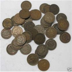 Lot of 50 Indian Head Cents- Goods-