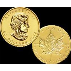 2010 Canadian Maple Leaf $50 Gold 1 oz. (.9999 24)