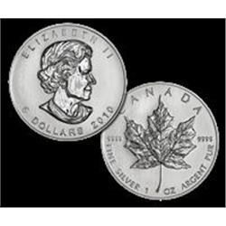 2010 Canadian Maple Leaf Silver Coin 1 oz.