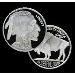 1 oz (.999) Fine Silver Rounds - (Buffalo)