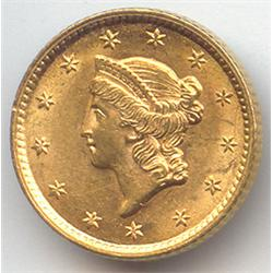 $ 1 Gold Civil War Era- 1850-60 US Minted