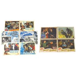 Gene Autry lobby cards (10), from The Blazing Sun, Strawberry Roan, Twilight on the Rio Grand (2), B
