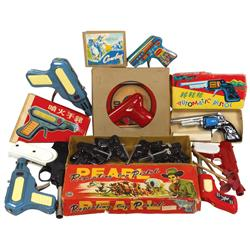 Toy guns, Sparking Cowboy Pistol, Automatic Pistol, Sparkling Pistol, Pearl Repeating Pistols (6 in