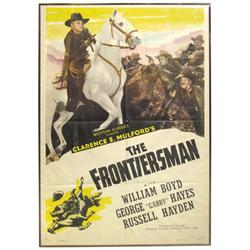 """Hopalong Cassidy movie poster, """"The Frontiersman"""", c.1938, starring William Boyd, 1 sheet poster by"""
