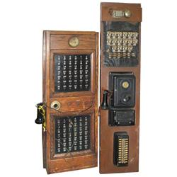 Hotel switchboard & call box (lot of 2), switchboard includes a Western Electric operator phone w/sw