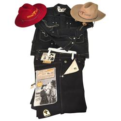 Hopalong Cassidy denim outfit, includes jeans & jean jacket made by Blue Bells, new old stock w/orig
