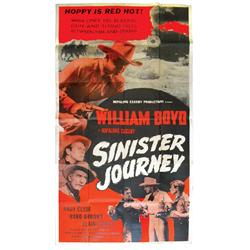 """Hopalong Cassidy movie posters (2), """"Fighting Cowboy"""" (Spanish version), Good cond w/pin holes & sta"""