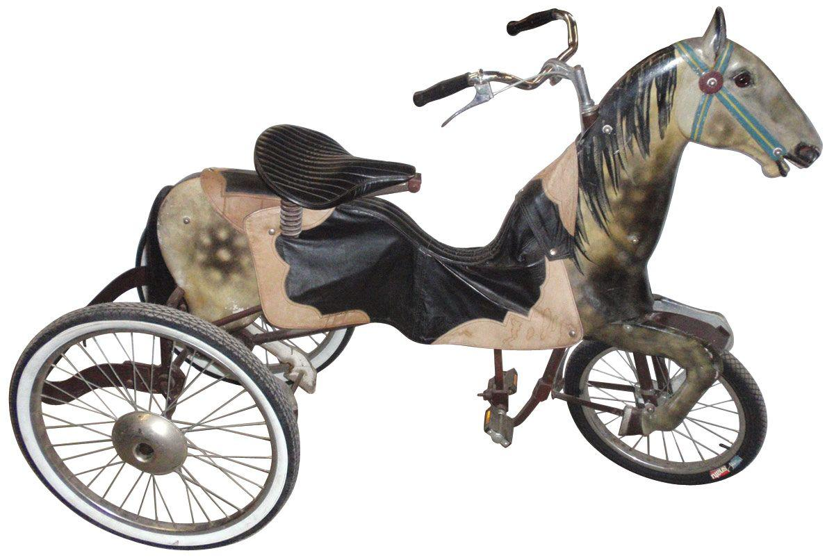 Horse 3 Wheel Bicycle Articulated Gallops Up Down As The