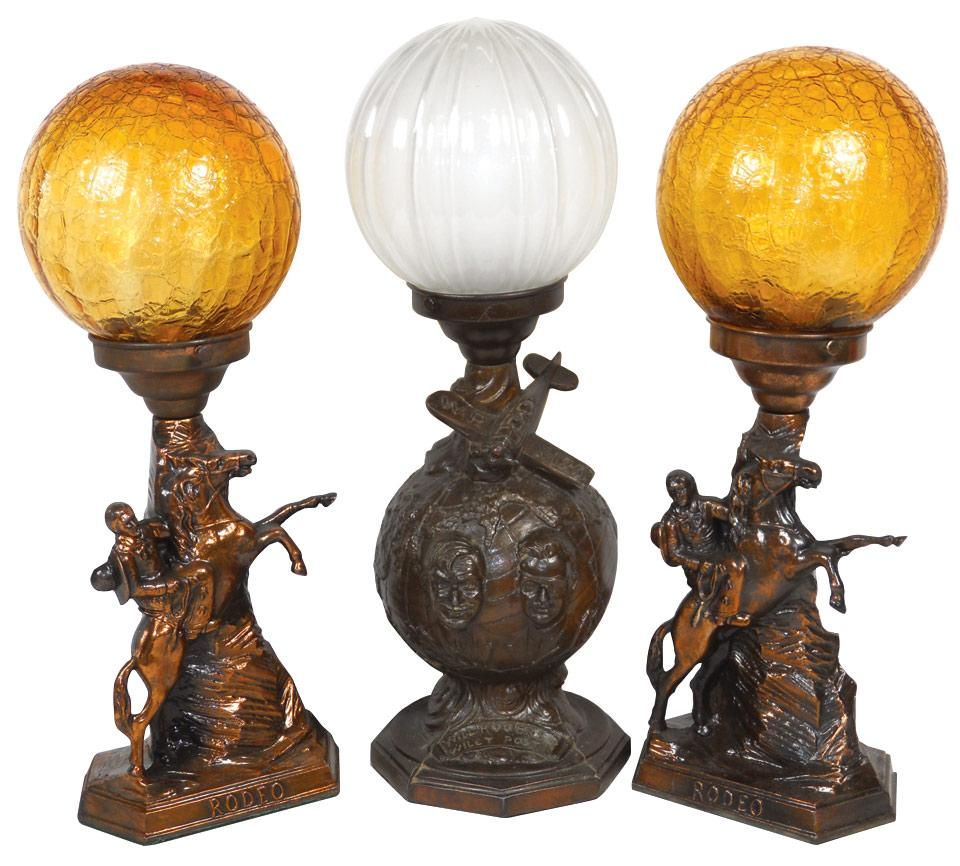 Roy Rogers Rodeo Lamps W Globes 16 Quot H Amp Will Rogers Wiley